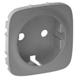 755207 - Лицевая панель для розетки 2К+З Legrand Valena Allure (алюминий)