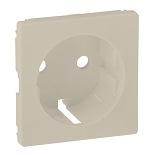 755251 - Лицевая панель для силовой розетки 2К+З с зажимами Legrand Valena Life (слоновая кость)