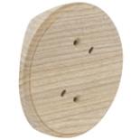 RK1-200-D - Накладка на бревно Ø200мм, для распределительной коробки/светильника с диаметром основания до 90мм, круглая (дуб)