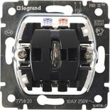 775820 - Механизм переключателя Legrand Galea Life на два направления, с индикацией, с нейтралью, 10AX, одноклавишный, с оранжевой лампой
