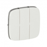 755035 - Лицевая панель  для трехклавишного выключателя Legrand Valena Allure (белая)
