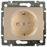 771421 + 775920 - Розетка электрическая со шторками и автоматическими клеммами, Legrand Galea Life, 16А (титан)