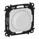 752060 + 752045 - Светорегулятор (диммер) поворотный, 300 Вт, Legrand Valena Allure (белый)