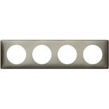 068974 - Рамка 4-постовая Legrand Celiane, прямоугольная, 303х82мм (вольфрам)
