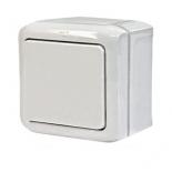 782300 - Выключатель одноклавишный влагозащищенный (IP 44) Legrand Quteo (белый)