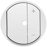 068075 - Лицевая панель светорегулятора (диммера) с подсветкой, Legrand Celiane, белая