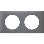 066732 - Рамка 2-постовая Legrand Celiane, прямоугольная, 161х82мм (фиолетовая перкаль)