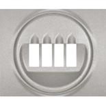 771325 - Лицевая панель для двойной акустической розетки Legrand Galea Life, алюминий