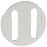 065002 - Лицевая панель для двойного выключателя/переключателя с тонкими клавишами, Легранд Селиан (белая)