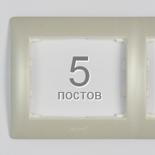 771505 - Рамка 5-постовая, горизонтальный монтаж, Legrand Galea Life (жемчуг)