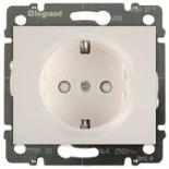 771521 + 775920 - Розетка электрическая со шторками и автоматическими клеммами, Legrand Galea Life, 16А (жемчуг)