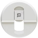 068251 - Лицевая панель для розетки RJ45, Legrand Celiane (белая)