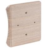 RK4-280 - Накладка на бревно Ø280мм, для распределительной коробки/светильника с размером основания до 105х105мм, квадратная (ясень)
