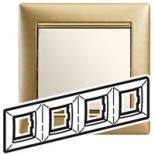 770304 - Рамка 4 поста Легранд Валена (Матовое золото)