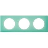 066643 - Рамка 3-постовая Legrand Celiane, прямоугольная, 232х82мм (бирюзовый муар)