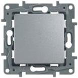 672414 - Выключатель (кнопка) без фиксации Legrand Etika Plus (алюминий)