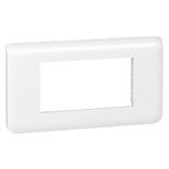 078814 - Рамка Legrand Mosaic, 4-модульная, горизонтальная (белая)