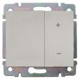 771386 + 775653 - Светорегулятор (диммер) клавишный, 600 Вт, Legrand Galea Life (алюминий)