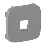 755367 - Лицевая панель для одиночной аудиорозетки с пружинными зажимами Legrand Valena Allure (алюминий)