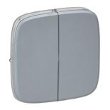 755023 - Лицевая панель для двухклавишного выключателя Legrand Valena Allure (полированная сталь)