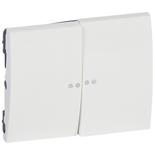 771079 - Клавиша для двойного выключателя Legrand Galea Life с индикацией, белая
