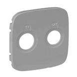 754827 - Лицевая панель для TV-SAT розеток Legrand Valena Allure (алюминий)