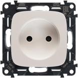 753016 + 754979 - Электрическая розетка без заземления с защитными шторками, автоматические клеммы, Legrand Valena Allure (жемчуг)