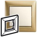 770301 - Рамка 1 пост Legrand Valena (Матовое золото)