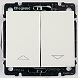 775814 + 777014 - Выключатель кнопочный для управления жалюзи/рольставнями, Legrand Galea Life (белый)