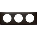 068983 - Рамка 3-постовая Legrand Celiane, прямоугольная, 232х82мм (карбон)