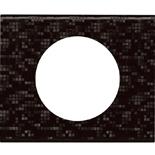 069451 - Рамка однопостовая Legrand Celiane, прямоугольная, 100х83мм, кожа (блэк пиксел)