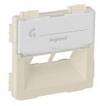 755381 - Лицевая панель для двойной информационной розетки RJ 45 Rutenbeck Legrand Valena Life (слоновая кость)