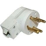 055155 - Вилка силовая 3К+З, 20 А, пластик, выход кабеля сбоку, Legrand