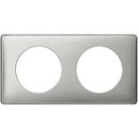 068722 - Рамка 2-постовая Legrand Celiane, прямоугольная, 161х82мм (сильвер пунктум)