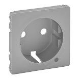 754852 - Лицевая панель для розетки 2К+З c линзой для подсветки/индикации Legrand Valena Life (алюминий)
