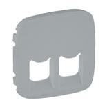 755427 - Лицевая панель для двойных телефонных/информационных розеток Legrand Valena Allure (алюминий)