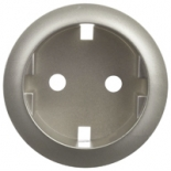 068431 - Лицевая панель для розетки немецкого стандарта с безвинтовыми зажимами (2К+З), Legrand Celiane (титан)