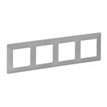 754134 - Рамка четырехпостовая Legrand Valena Life (алюминий)