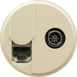 066234 - Лицевая панель для розетки RJ45 + TV (тип F), Легранд Селиан (слоновая кость)