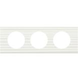 069013 - Рамка 3-постовая Legrand Celiane, прямоугольная, 242х83мм, Corian® (белый рельеф)