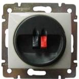 770223 - Розетка акустическая, 2 контакта, Легран Валена (алюминий)