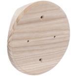 SV1-180 - Накладка на бревно Ø180мм, для распределительной коробки/светильника с диаметром основания до 120мм, круглая (ясень)