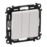 752003 + 755030 - Выключатель простой, трехклавишный Legrand Valena Life (белый)
