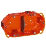 080102 - Монтажная коробка повышенной прочности, встраиваемая универсальная, 2-постовая (1х4/5), 40мм, d=67мм, Legrand Batibox