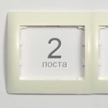 771002 - Рамка 2-постовая, горизонтальный монтаж, Legrand Galea Life (белый)