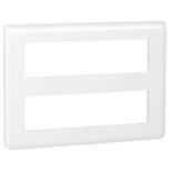 078837 - Рамка Legrand Mosaic, 2-секционная, 16-модульная (белая)