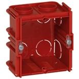 080151 - Монтажная коробка встраиваемая соединяемая, 1-постовая, 50мм, квадратная, для кирпичных стен, Легранд Batibox