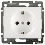 775920 + 777020 - Розетка электрическая с заземлением и автоматическими клеммами, Legrand Galea Life, 16А (белый)