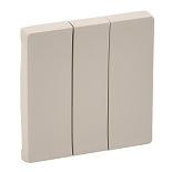 755031 - Лицевая панель для выключателя трехклавишного Legrand Valena Life (слоновая кость)