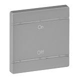 755172 - Лицевая панель для механизмов BUS/SCS, с символом «On-Off», 2 модуля Legrand Valena Life (алюминий)